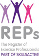 Accredited by REPs, The Register of Exercise Professionals (part of SKILLSACTIVE)